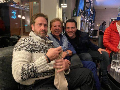 Gerard Butler, Ross King and Darius