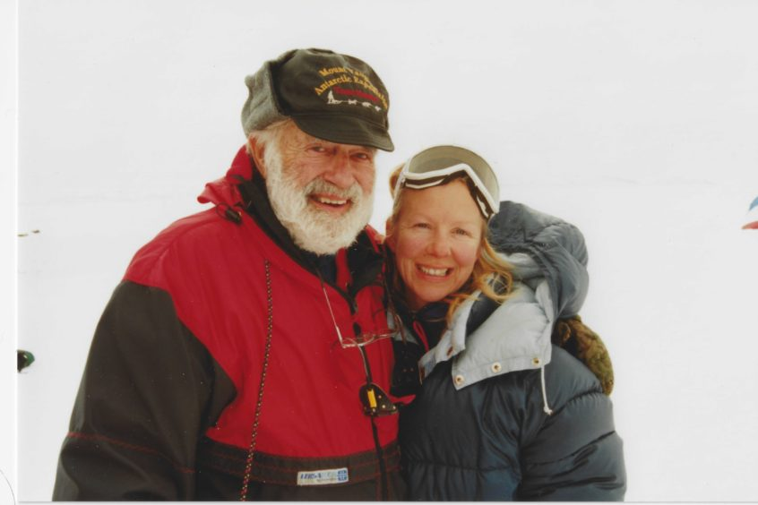 Anne Kershaw with noted polar explorer Norman Vaughan
