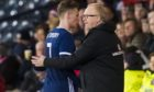 Former Scotland manager Alex McLeish with Scott McTominay (left)