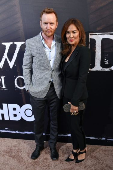 Tony Curran with wife Mai