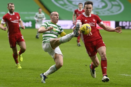 Scott Brown in typically combative mood against the Dons this season