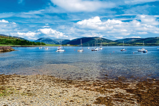 Port Bannatyne on the Isle of Bute.