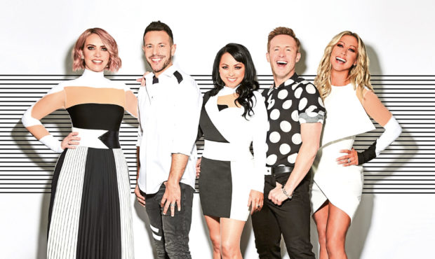 Steps, from left, Claire Richards, Lee Latchford-Evans, Lisa Scott-Lee, Ian 'H' Watkins and Faye Tozer. Their UK tour begins in November, and includes Aberdeen and Glasgow shows