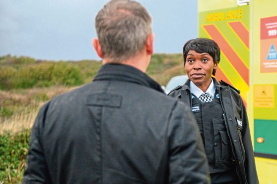 Rakie Ayola with John Simm in the crime drama based on books by Peter James