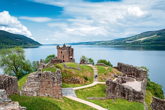 The spectacular ruins of Urquhart Castle on Strone Point
