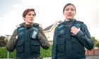 Vicky McClure as DI Kate Fleming, Kelly Macdonald as DCI Joanne Davidson in Line of Duty.