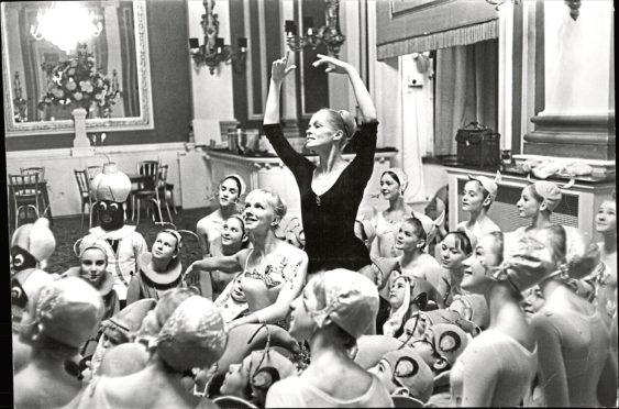 Irina Kolpakova (in Black) And Nina Soldun Of The Kirov Ballet Company Rehearsing Cinderella.