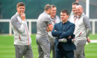 Steven Gerrard, seen with sporting director, Ross Wilson, uses slightly different  methods to those of former Rangers manager, Jock Wallace.