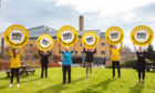 The appeal is launched outside The Beatson West of Scotland Cancer Centre
