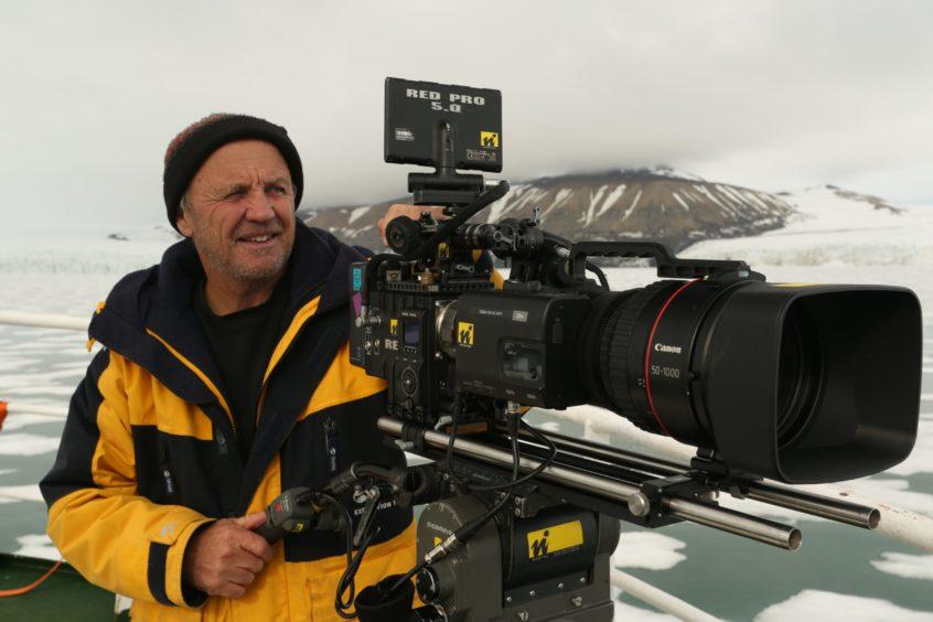 Doug Allan behind the camera