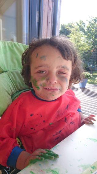 Little painter Eilidh Anderson,