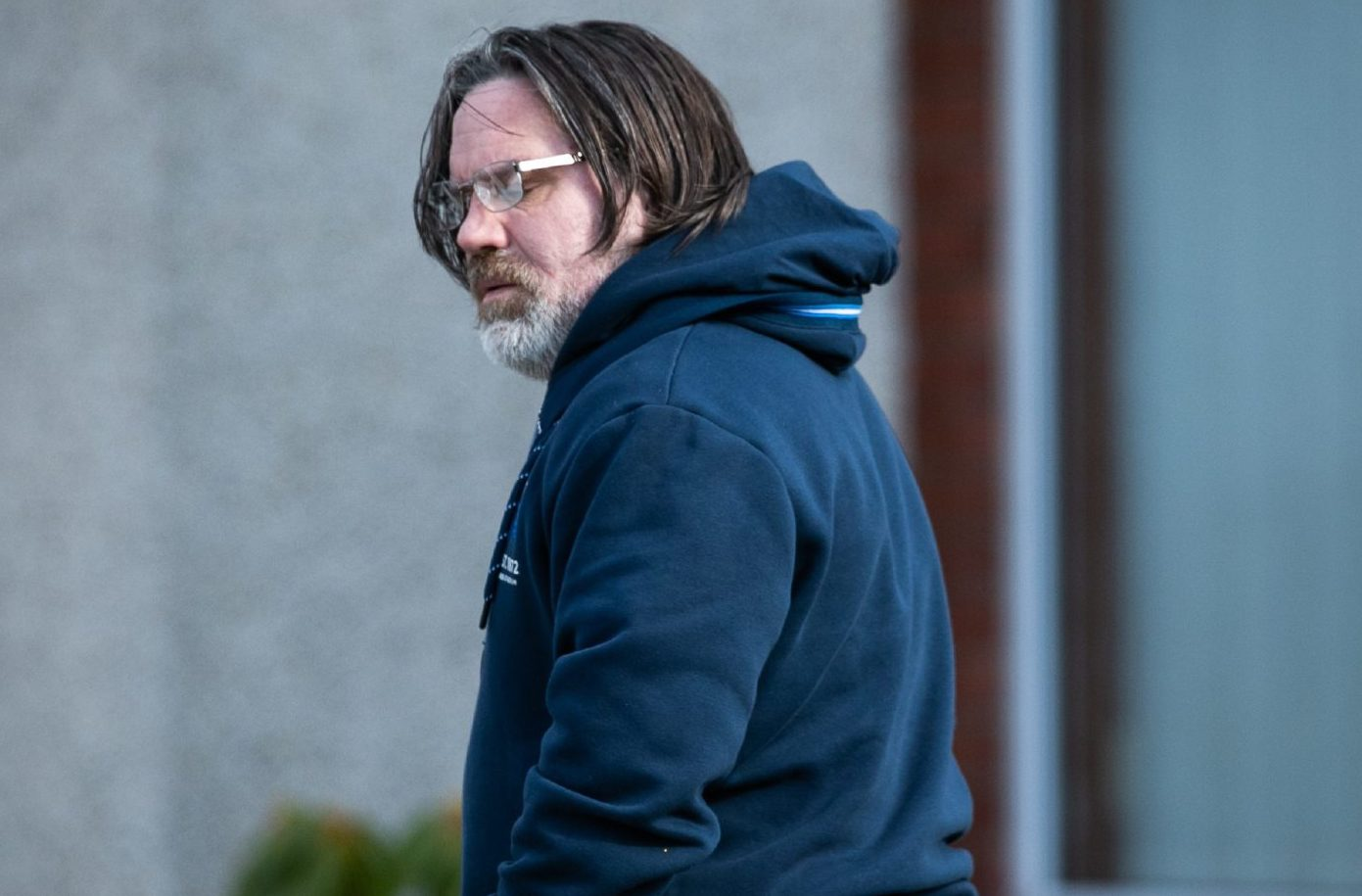 Iain Packer has nothing to say outside his home last week