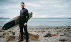 Scott Mitchell at Silversands beach in Aberdour, Fife