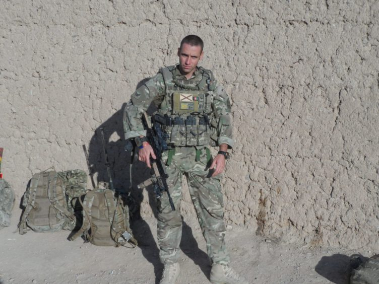 Scott on duty with the 4th Royal Artillery in Afghanistan