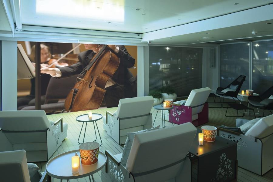 Enjoy an Evening Cinema onboard.