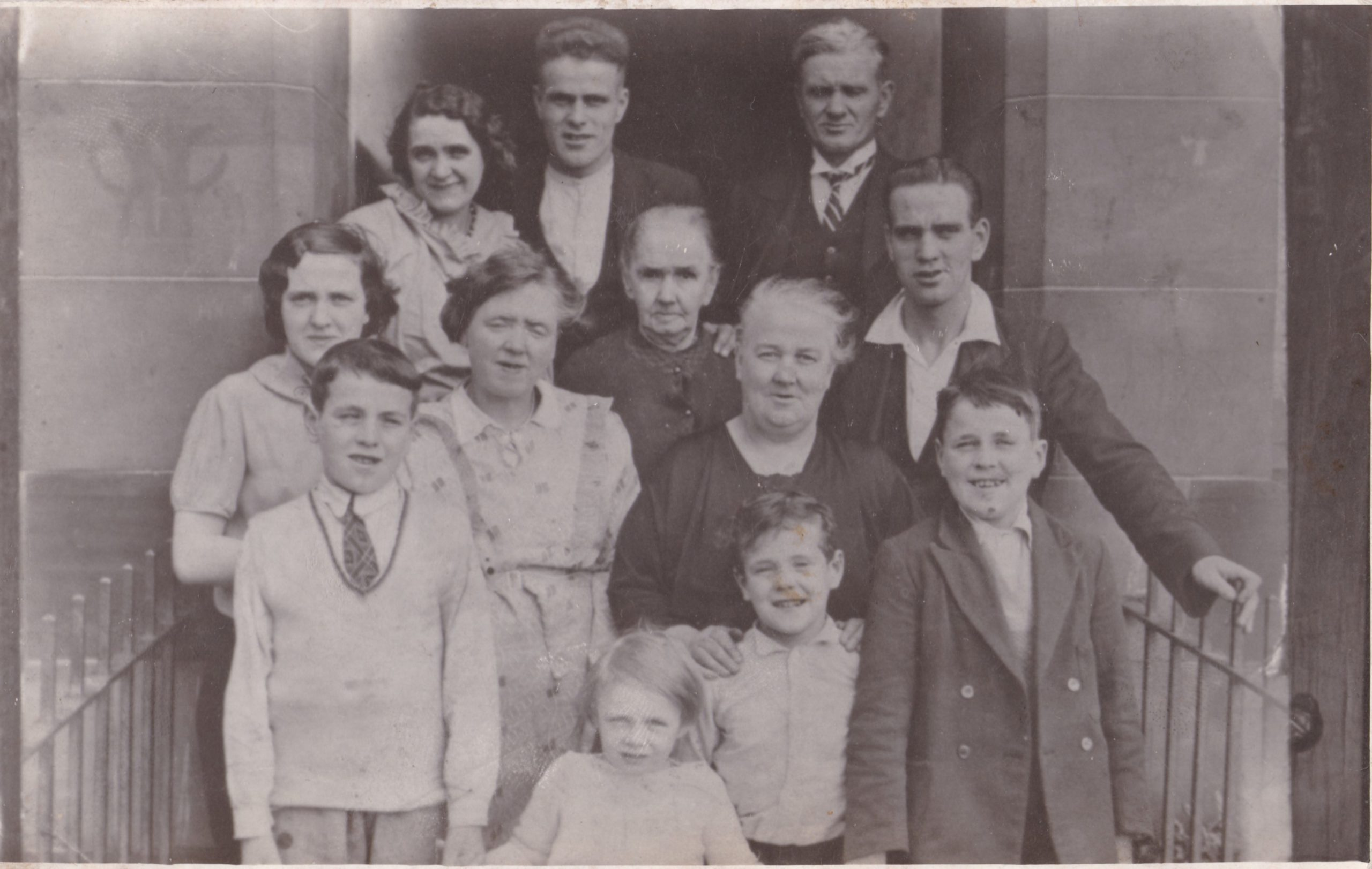 Some of the Rocks family – 15 were killed in the Blitz