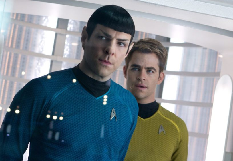 Spock finds out Captain Kirk (Chris Pine) beamed down to Glasgow for a night on the tiles