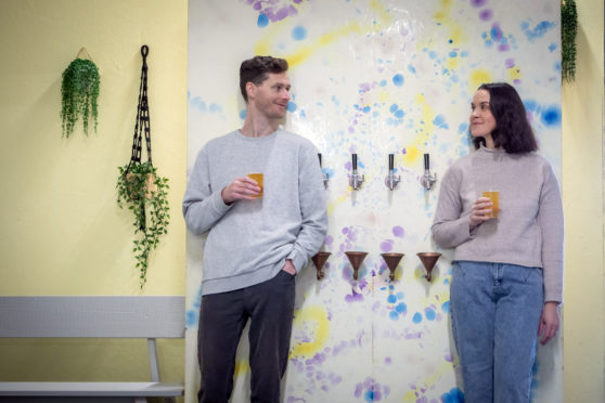 Alan and Kelsey Moore, the brains behind You + I, a Glasgow brewery and taproom producing a range of healthy, fizzy, fermented drinks
