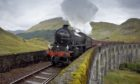 The Hogwarts Express crosses Glenfinnan Viaduct