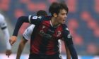 Aaron Hickey in Serie A action for Bologna