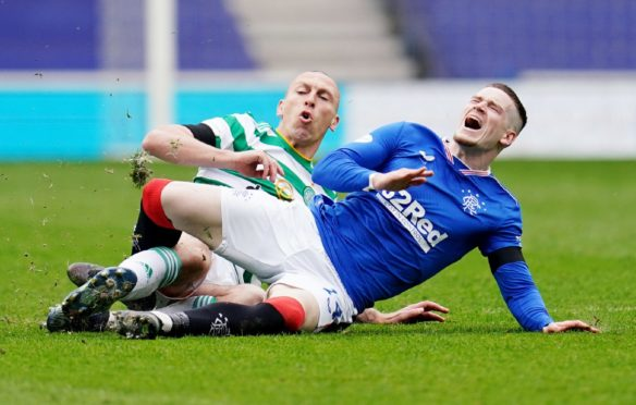 The competitive nature of Old Firm games – epitomised by this Scott Brown tackle on Ryan Kent at Ibrox last Sunday – would hold appeal south of the border