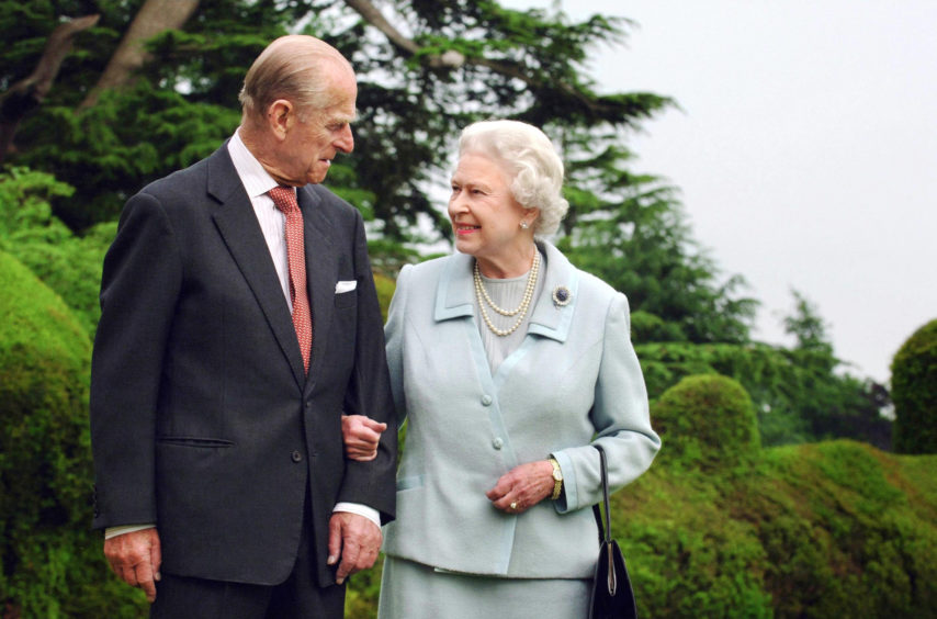 Queen Elizabeth II and The Duke of Edinburgh at Broadlands marking their diamond wedding anniversary