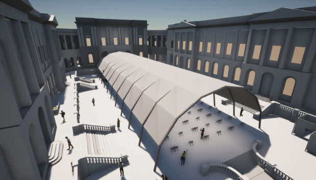 An artist's impression of the venue to be used at Old College Quad