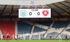As well as the scoreline, the Hampden scoreboard could be indicating the number of fans inside the National Stadium when Celtic went on to beat Hearts on penalties in the Cup Final last December and retain the trophy