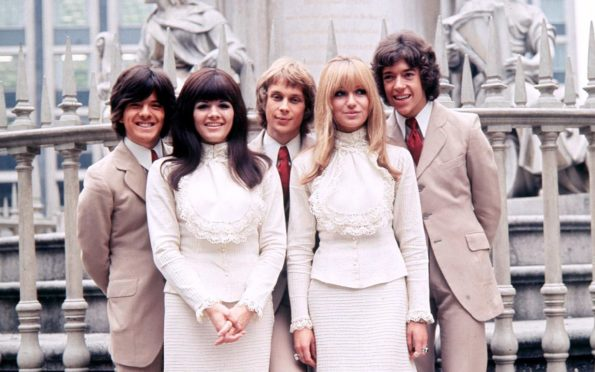 From left: The New Seekers' Laurie Heath, Eve Graham, Marty Kristian, Sally Graham and Chris Barington in 1969