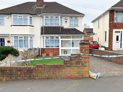 The house on Boundary Avenue in Rowley Regis, West Midlands, where a woman in her 80s died after being attacked by two escaped dogs.