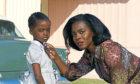 Lucky Emory (Deborah Ayorinde) and daughter Gracie (Melody Hurd) face traumas in Them.