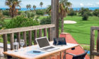 Zoom with a view: A virtual office in the Algarve resort of Quinta da Ria which offers special packages to entice golf-loving remote workers