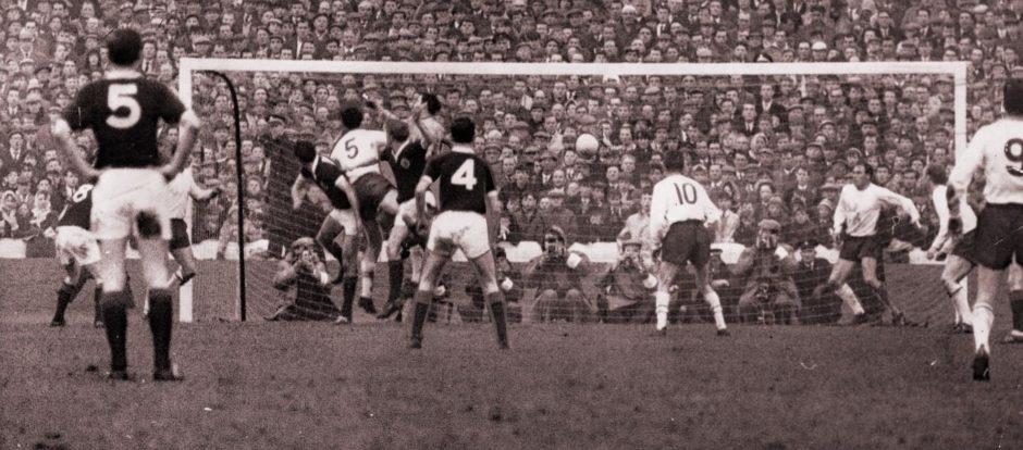 Alan Gilzean goal v England.