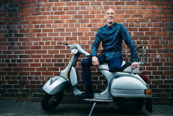 Lifelong Mod Alex Mitchell hopes to be riding his beloved vintage scooter again soon despite amputation last month.