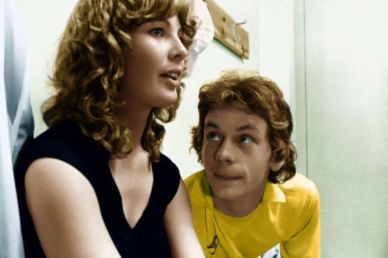Dee Hepburn as star footballer Dorothy and John Gordon Sinclair as her besotted team-mate in Gregory's Girl