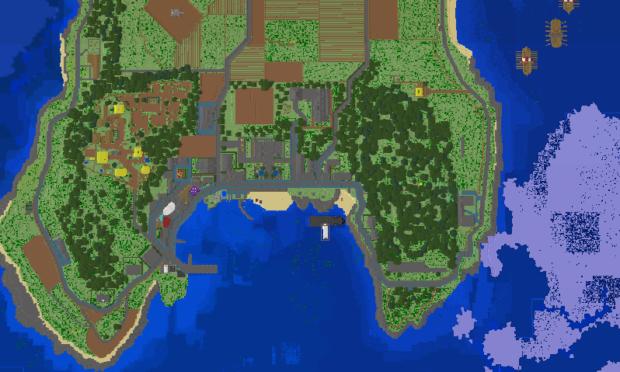 Cumbrae recreated on Minecraft