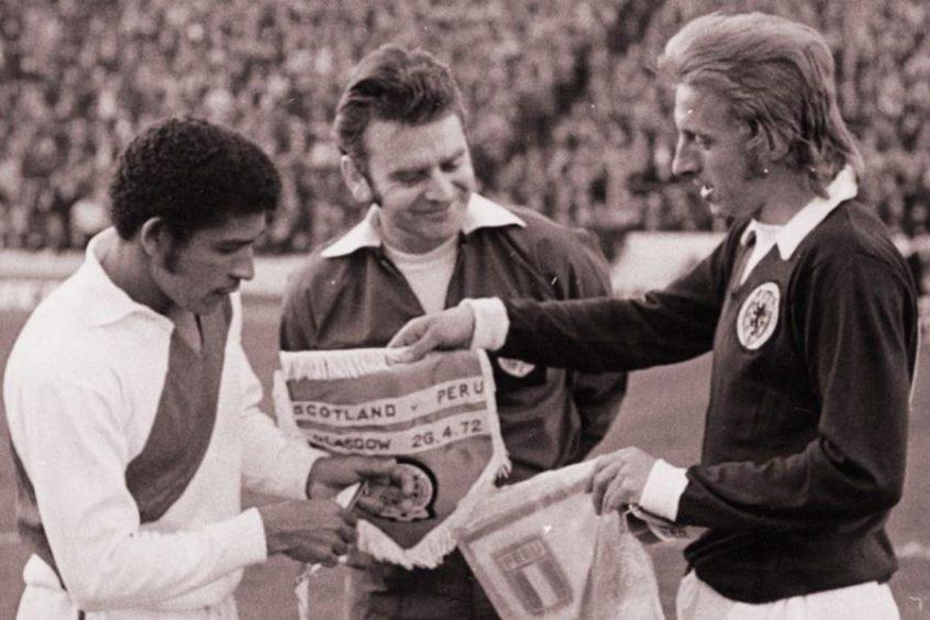 Denis Law, Scotland v Peru, 1972.