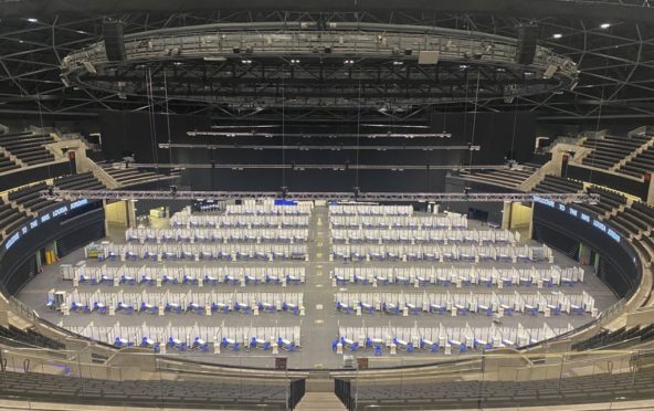 The SSE Hydro is being used as a mass vaccination centre