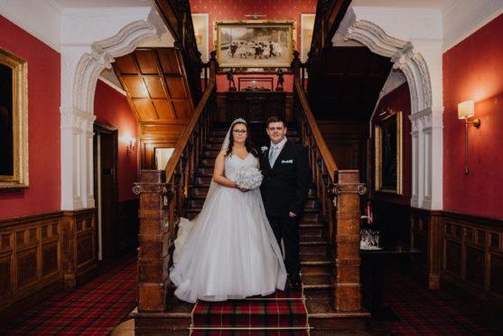 Jade Hannah and Rhys McNally on their wedding day.