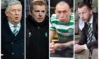 (From left) Peter Lawwell, Neil Lennon, Scott Brown and Nick Hammond have all seen their time at Celtic end this season