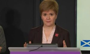 Nicola Sturgeon during the Covid briefing on October 28