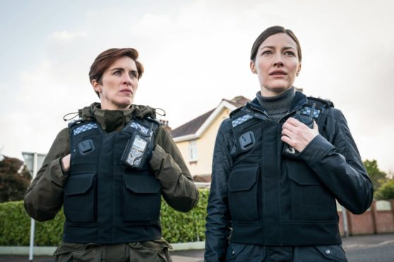 Vicky McClure and Kelly Macdonald in Line of Duty
