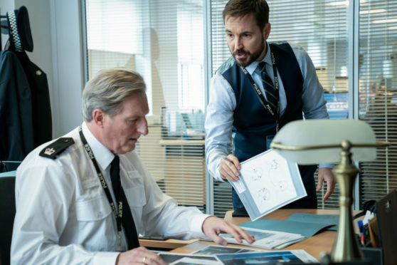 Adrian Dunbard (left) and Martin Compston in Line of Duty
