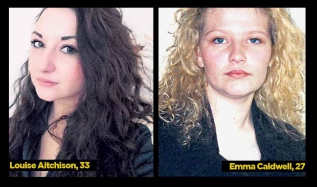 Murder victims Louise Aitchison and Emma Caldwell