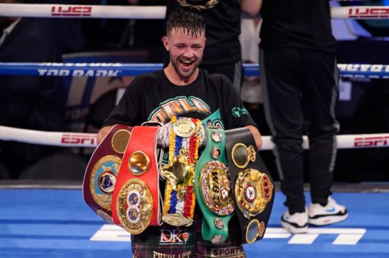 Josh Taylor gets to grips with his rising collection of world-title belts