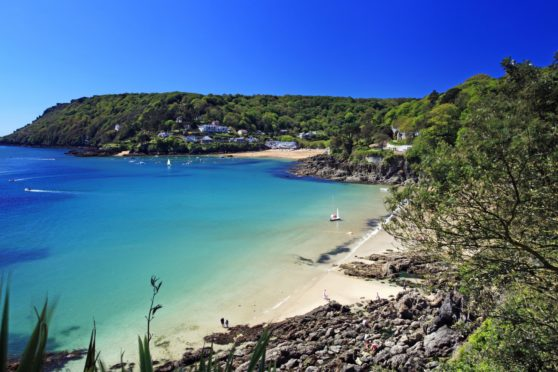 Salcombe ria (estuary) in south Devon.