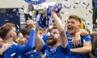 St Johnstone's Shaun Rooney lifts the Scottish Cup