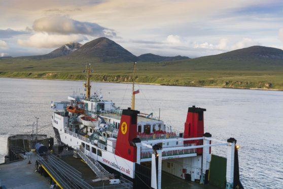 CalMac ferry Hebridean Isles at Port Askaig, Islay