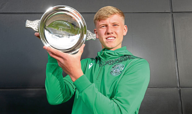 Josh Doig, voted Scottish Football Writers Young Scottish Player of the Year