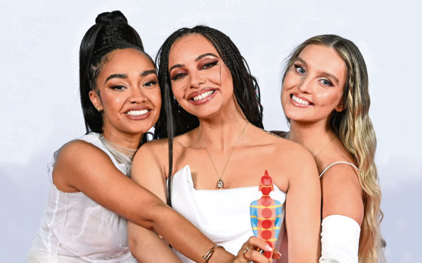 Little Mix - Leigh-Anne Pinnock, Jade Thirlwall and Perrie Edwards, 41st BRIT Awards.